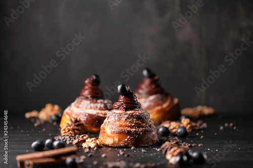 Spoed Fotobehang Dessert Sweet buns background