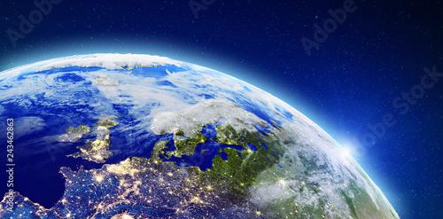 Fotografia  North Europe city lights