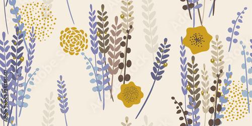 Obraz na płótnie Modern Floral Lavender Pattern