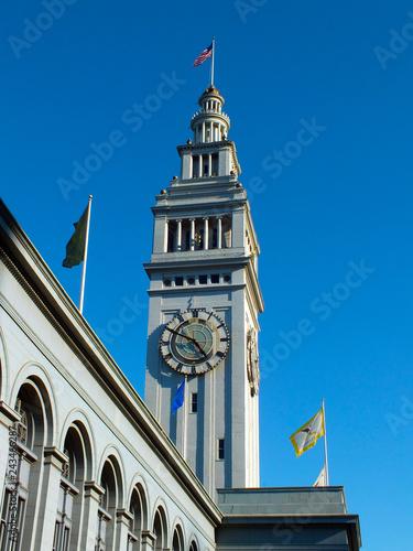 Keuken foto achterwand Amerikaanse Plekken Harbour Clock Tower, San Francisco