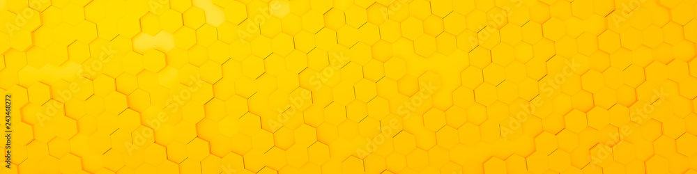 Fototapety, obrazy: yellow hexagon background