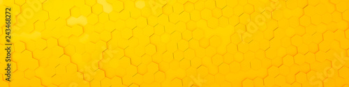yellow hexagon background - 243468272