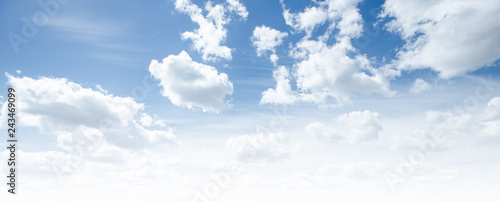 Aluminium Prints Heaven Clear blue sky and white clouds