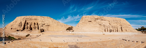 Foto  Great temples of Abu Simbel panoramic view