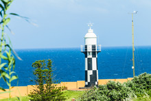 Lighthouse Blue Ocean Ship Marine Safety