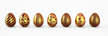 Gold Easter Eggs With Patten S...