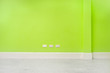 Leinwanddruck Bild - Green wall