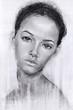 portrait of a girl in pencil. sketch