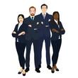 Business team illustration. Vector.