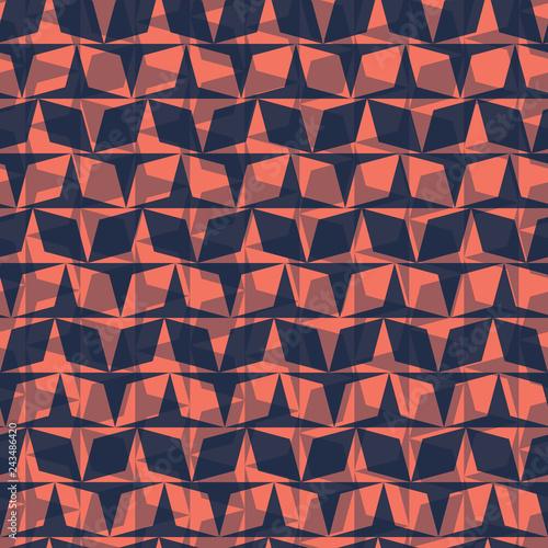 Fotografia, Obraz  Graphic geometric diamond mosaic check grid