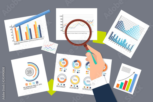 Foto  Infographics and Schemes Researching Analysis