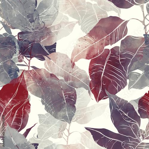 odciski-streszczenie-pozostawia-poinsecja-mix-powtarzac-wzor-cyfrowy-recznie-rysowane-obraz-z-akwarela-tekstury