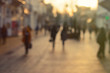 City commuters at sunset. Blurred background image for business, modile apps, and other uses