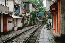 Hanoi Train Street. Vietnam Ci...