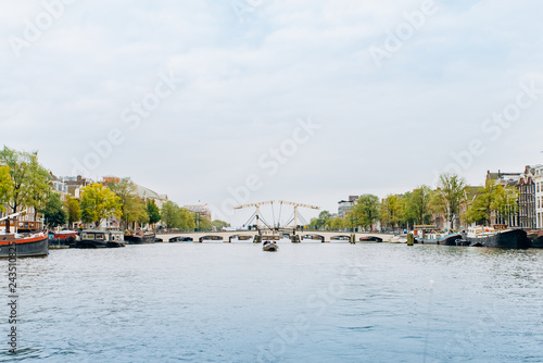 Photo  Amsterdam, Netherlands September 5, 2017: canals and rivers