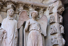 Reims, France. The Cathedral O...