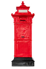 Isolated Antique Red Post Mail...