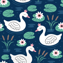 Seamless Pattern With White Pr...