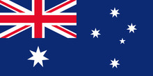 Australia Flag. Vector. Australian Official State Sign. National Flag Of Australia With Union Jack And Stars In Blue And Red Colors. Isolated Icon. Colorful Illustration.