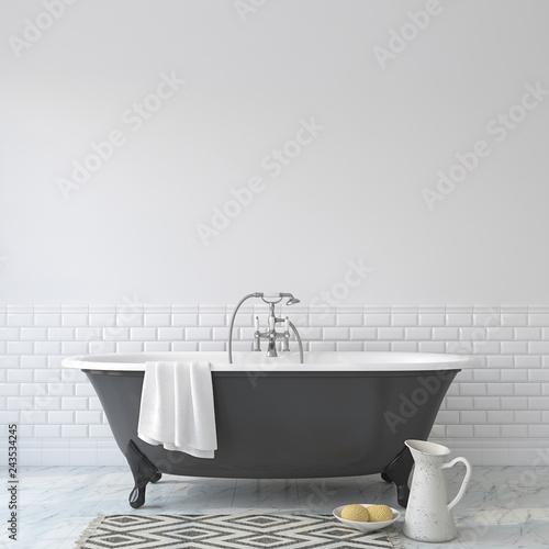 Romance bathroom. 3d render. Fototapeta