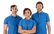 Team Of Technical Support With...