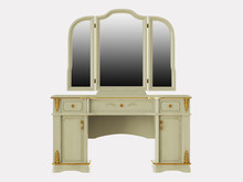 Dressing Table On A White Background 3d Rendering