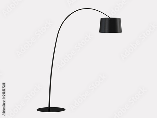 Fotomural Floor lamp on a white background 3d rendering