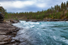 Sjoa River Rapids Oppland Norway Scandinavia