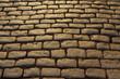 Detalhe de calçamento de pedra em rua de Ouro Preto, Minas Gerais, Brasil