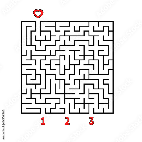 Abstract square maze  Game for kids  Puzzle for children  Find the