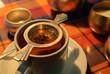 A cup of tea served in Darjeeling tea house