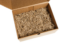 Opened Gift Box With Decorativ...