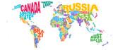 World Map Word Cloud
