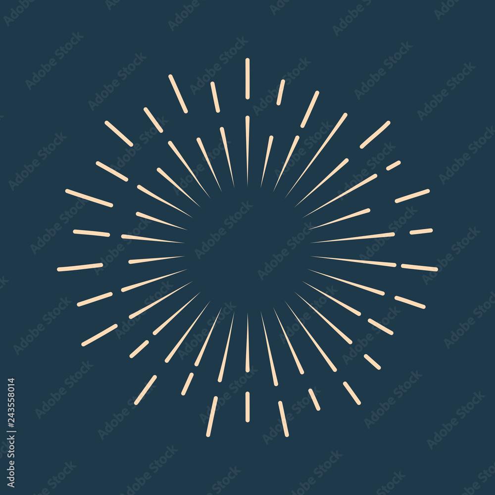 Fototapety, obrazy: Retro starburst icon