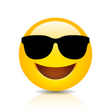 Cool Smiling Emoji With Sungla...