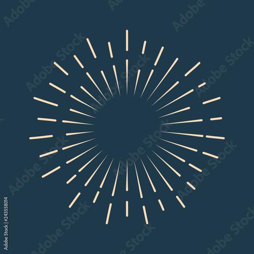 Obraz Retro starburst icon - fototapety do salonu