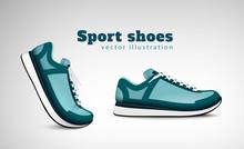 Sport Shoes Realistic Composit...