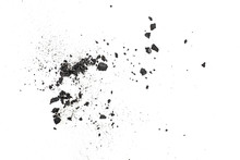 Black Coal Dust With Fragments...