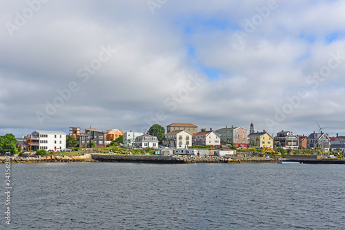 Fotografie, Obraz  Gloucester city skyline from inner harbor, Massachusetts, USA