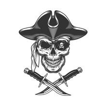 Monochrome Pirate Skull
