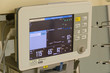 Hospital monitor with pressure and pulse control.
