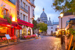 Leinwanddruck Bild - Montmartre in Paris, France