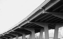 Highway Ramps. Concrete Pilons...