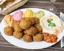 Arabic Food, Falafel Humus Pla...