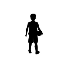 Boy With Ball Silhouette
