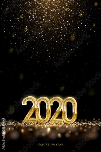 Fotografia  2020 New Year luxury design concept