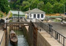 Erie Canal Locks In Lockport, NY