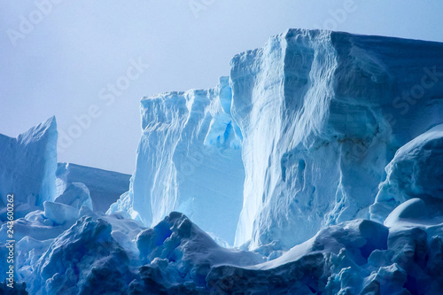 Tuinposter Antarctica Antarctic icebergs in the waters of the ocean