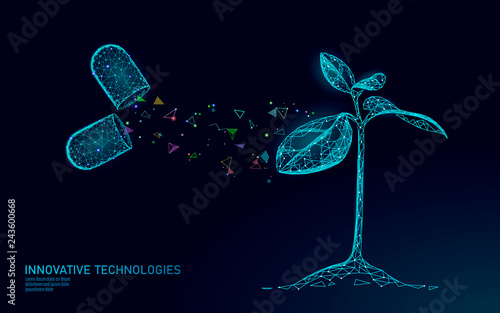 Cuadros en Lienzo Plant sprout biotechnology abstract concept