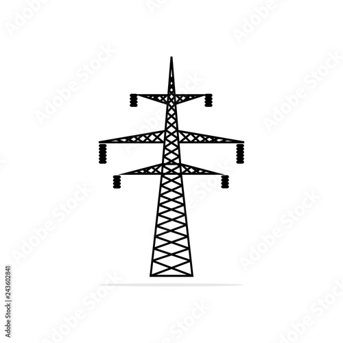 high voltage pole icon  Vector concept illustration for
